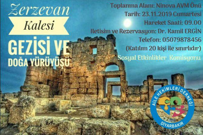 ZERZEVAN Kalesi Gezi ve doğa yürüyüşü