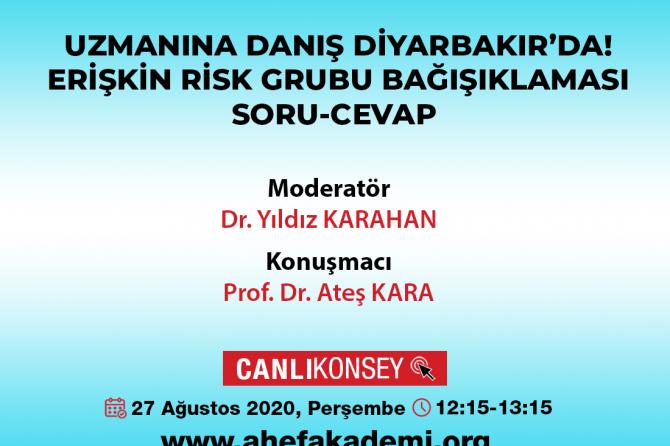 Erişkin Risk Grubu Bağışıklaması Soru-cevap Canlı Yayını- 27 Ağustos 2020