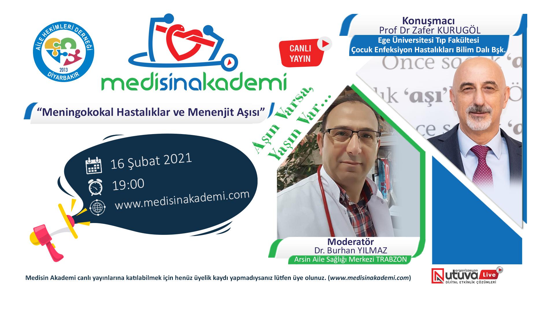 """""""Meningokokal Hastalıklar ve Menenjit Aşısı Eğitim Toplantısı"""" 16 Şubat 2021"""
